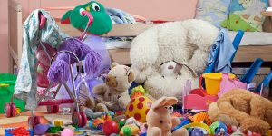 Clear out the children's rooms to create extra space for toys that live in the lounge